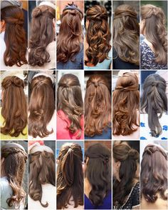 Kate's beautiful half-updo's Notice that each one is slightly different. I…