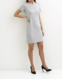 54a2d126686d31 Koop Jurk - Vitinny Short Sleeved Light Grey Melange Online op  shop.brothersjeans.nl voor slechts € 26