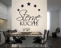 #Wandtattoo Sprüche - Wandworte No.BR262 #Sterneküche 3 #Küche #kitchen #essen #food #kochen #Appetit