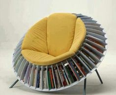 A cool book shelf seat