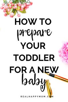 Are you pregnant with a toddler?  There are some things you can do to make the transition easier for your toddler.  Check out this post to learn how to prepare your toddler for a new baby. #realhappymom #newbaby via @realhappymom