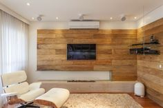 Home Tv, Piece A Vivre, Tv Unit, Wall Treatments, Home Theater, Contemporary, Modern, Diy Furniture, Sweet Home