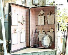 vintage suitcase table plan www.bohemiandreams.co.uk