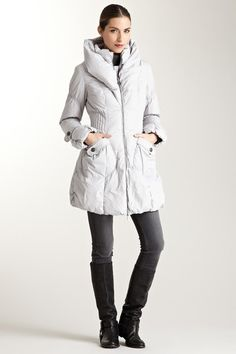 Happy Go Lucky Paris Puffer Coat in Icy Grey: HauteLook