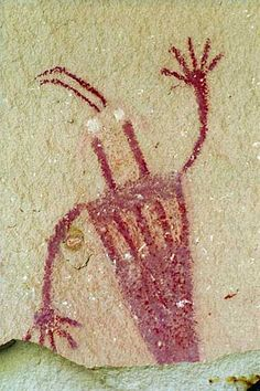Ancient Alien Aboriginal Art Painting in Utah, this reminds me of bigfoot for… Ancient Aliens, Fresco, Cave Drawings, Primitive Painting, Aboriginal Art, Ancient Artifacts, Ancient Civilizations, Native American Art, Rock Art