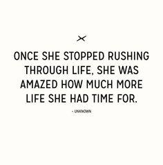 Stop Rushing - Simple Sunday Inspiration | www.inspirationformoms.com