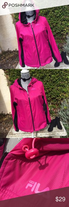 Fila PinkSport Jacket! Fila PinkSport Jacket! Fuchsia colored windbreaker, guilty zipper front, brand new without tags. Fila Jackets & Coats