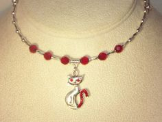 Swarovski Crystal and Silver Necklace  Shown in by kippyskreations, $25.00