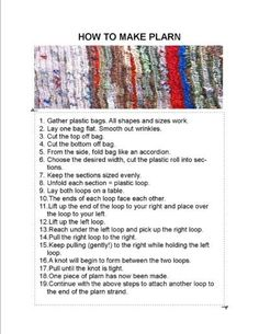 Learn how to make plarn to turn plastic bags into sleep mats for homeless.