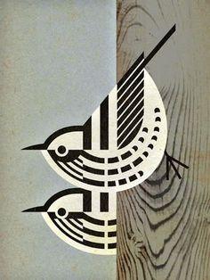art nouveau 59 Super Ideas For Bird Illustration Pattern Charley Harper Tips In Choosing Area Art And Illustration, Vogel Illustration, Pattern Illustration, Animal Illustrations, Black And White Illustration, Charley Harper, Illustrator, Bird Patterns, Bird Drawings