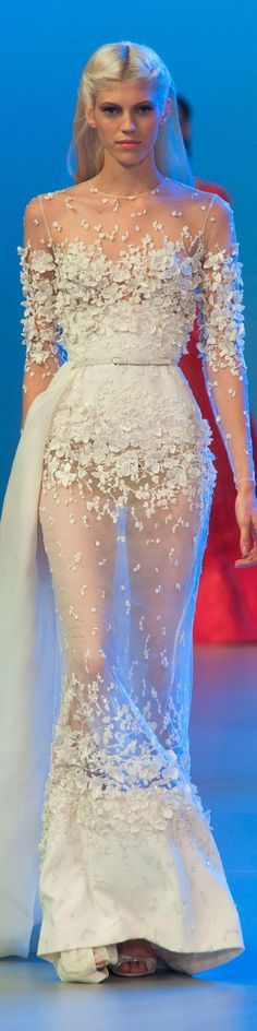 Elie Saab Haute Couture Spring 2014. so gorgeous I can't stand it!!! #wedding #weddingdress