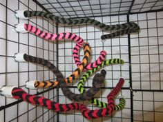 Sugar Glider Toy - 24 Inch Flexible Fleece Rope Perch - Matches Mesh Cage sets