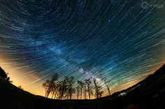 Composite I Created Of Milky Way Trails Forming Over Shenandoah National Park With A Fisheye Lens [oc][2048x1367]
