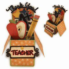 Silhouette Online Store - View Design #60420: teacher appreciation box card