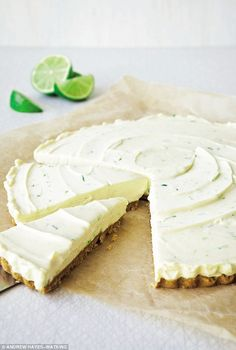 Davina McCall: Lime & ginger cheesecake  | Daily Mail Online
