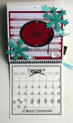 @Elizabeth Carney created this wonderful Calendar using SRM's 6 x 6 calendar, calendar months, calendar numbers and other assorted SRM Stickers.  December