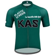 Retro KAS Green Plastic Screen Cycling Jersey  daa64843c
