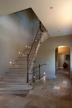 Stairs, belgian style in 2020 Curved Staircase, Stair Railing, Staircase Design, Railings, Building Plans, Building A House, Stairs To Heaven, Entry Stairs, Belgian Style