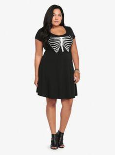 Skeletal Rib Embellished Dress; start of my halloween costume?! #skeleton
