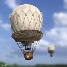 Steampunk Balloon by DereFonzie