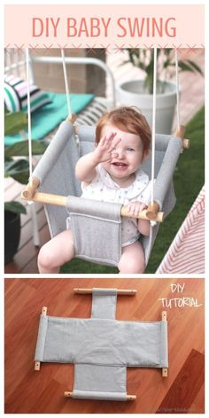 projects for baby DIY Quilt Baby Swing Kostenlose Schnittmuster und Anleitungen The Babys, Quilt Baby, Baby Toys, Diy Quilt, Kids Swing, Child Swing, Diy Bebe, Baby Sewing Projects, Sewing Patterns Baby