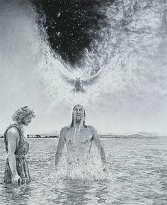 Baptism of Jesus - By Kees Bruin Jesus Our Savior, Names Of Jesus Christ, Jesus Christ Images, King Jesus, Jesus Lives, Pictures Of Christ, Bible Pictures, Description Of Jesus, Matthew 3