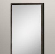 "Metal Beveled Leaner Mirror - raw steel, beveled, 42x78"""