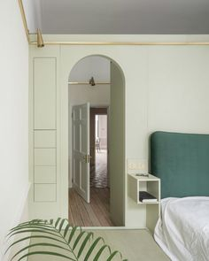 Upper Wimpole Street apartment, UK, by Jonathan Tuckey Design. Architecture studio Jonathan Tuckey Design filled this apartment in London's Marylebone neighbourhood with pastel-coloured storage walls.
