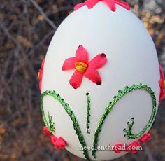 Embroidery on Eggs- Needlenthread