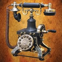 steampunk old style telephone