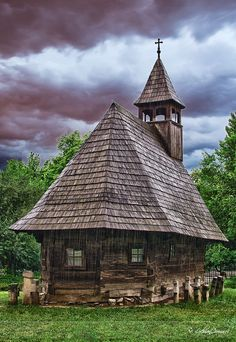 Five hundred years old Wooden Church,  Maramures county, Romania . www.romaniasfriends.com