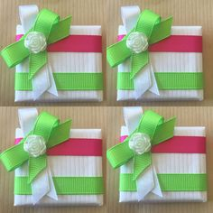 A personal favorite from my Etsy shop https://www.etsy.com/listing/462256597/baby-shower-favors-baby-girl-green-and
