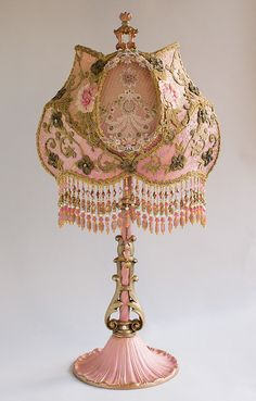 Nightshades -Victorian Lampshade with Rose Embroidery