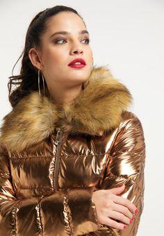 Girls Winter Coats, Winter Jackets Women, Fur Coat, Sexy, Furs, Metallic, Woman, Silver, Fashion