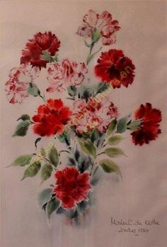 | Marisa Cebrián - Pintura en tela mcpinturaentela.es406 × 600Buscar por imagen portada claveles carnations copiar