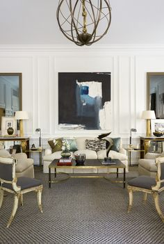 Traditional Living Room in New York, NY by Matthew Patrick Smyth Inc.