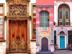 Prachtige kleurrijke deuren in Gdansk, Polen. Een goedkope stedentripbestemming (een mustsee doorporn-destination!)