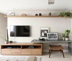 Cheap Office Decor, Cheap Home Decor, Modern Filipino Interior, Living Comedor, Home Tv, Home Decor Inspiration, Home Remodeling, Home Office, Living Room Decor