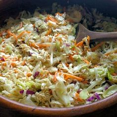 Easy Japanese Coleslaw #recipe, made by Kathryn from mommykatandkids.com. Cool, colourful and crisp.