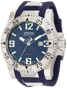 Invicta Men's 6253 Reserve Blue Dial Blue Polyurethane Watch *** More info could be found at the image url.