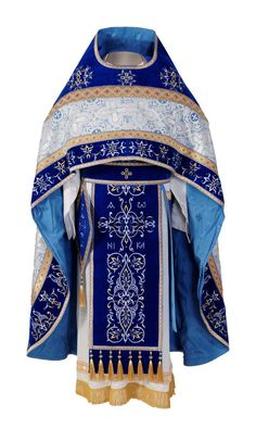 Blue priest vestment, #CatalogOfGoodDeeds #CatalogOfStElisabethConvent #orthodox #orthodoxy #church #orthodoxchurch #easternorthodoxy #orthodoxculture #vestments ‪#‎deacons ‪#‎OrthodoxVestments ‪#‎ordervestments ‪#‎buyvestments ‪#‎subdeacon ‪#‎orarion ‪#‎cuffs ‪#‎sticharion ‪#‎protodeacon ‪#‎archdeacon #mitre #klobuk #skufia #cassocks #bishop #archbishop #metropolitan #sewingworkshop http://catalog.obitel-minsk.com/sewing.html