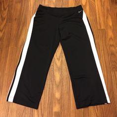 """Nike Capri Nike Capri. 100% polyester.  Size S.  Draw string waist.  Inseam 22"""" Nike Pants Track Pants & Joggers"""