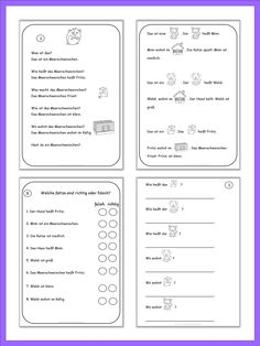 Easy reading texts and worksheets are for young and struggling learners of German. The texts are written in simple present. They follow the same pattern. All nouns and verbs are singular only. Each pet in these stories has a different gender. Language and grammar structures are being repeated while reading short and simple sentences. The rebus story and combined exercises make great tests. 70 pages.