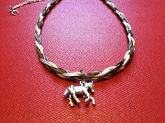 Horse Hair Choker Tan and White Rope by OcalaCountryVentures  $19.99