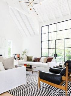 Best Floor To Ceiling Windows White Living Room