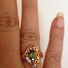 Ring Crystal ring with 18k gold plated jewelry.(NEW) No Trades. No Holds. No PayPal. Jewelry Rings