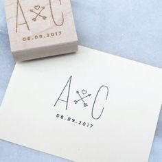Wedding logo stamps are an easy way to create a cohesive look for your event. Use the stamp on favor bags, envelopes, coasters, napkins or just