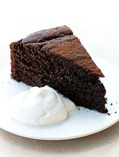 I love this Chocolate Cake for when my guests can't have wheat flour (it only has spelt flour) or when I want to offer a more health-conscious chocolate cake.