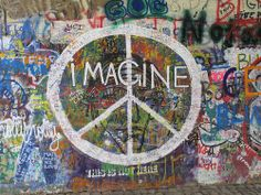 John Lennon Wall, Prague by Ian Press Photography