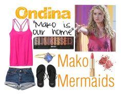 """Ondina Mako Mermaids"" by book-girl-4 ❤ liked on Polyvore featuring Abercrombie & Fitch, Athleta, Dolce&Gabbana, mermaid, TV, Australia and makomermaids"